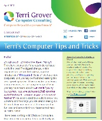 Terri's Computer Tips and Tricks Newsletter
